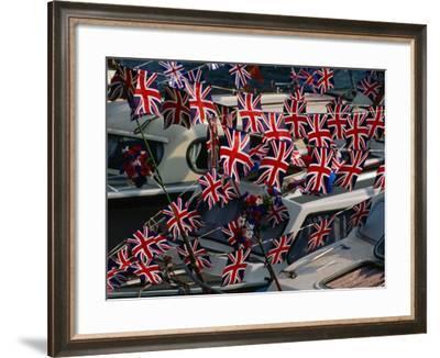 Union Jacks Festooned Over Boats at the Maidstone River Festival, Kent, England-David Tomlinson-Framed Photographic Print