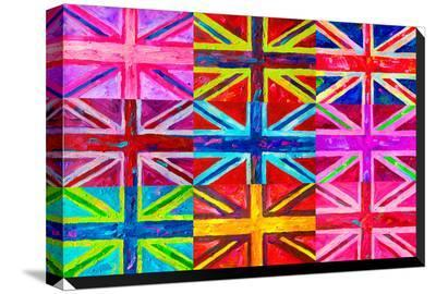 Union Jacks-Howie Green-Stretched Canvas Print