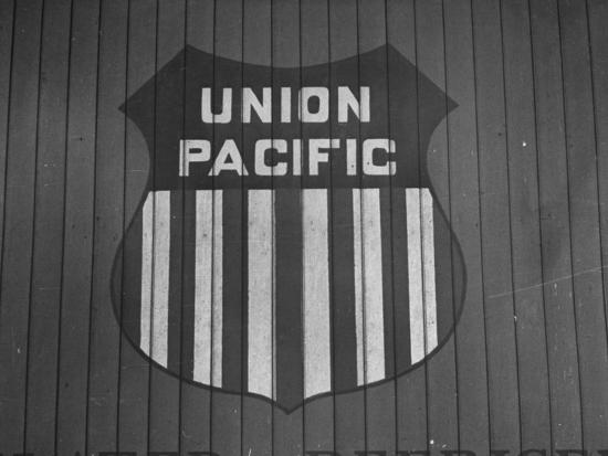Union Pacific Boxcar Showing Logo--Photographic Print