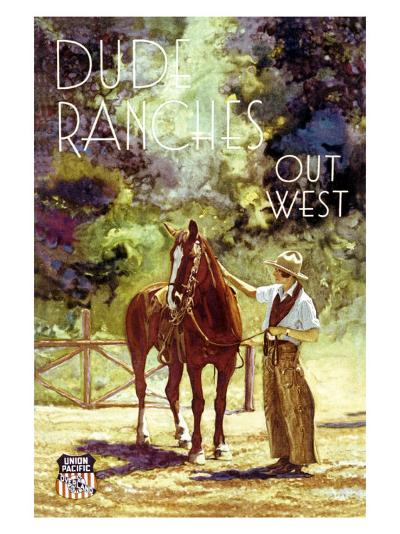 Union Pacific, Dude Ranch--Giclee Print
