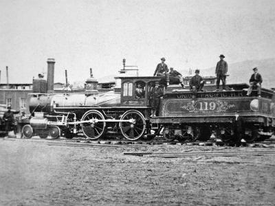 Union Pacific Locomotive No.119 That Pulled the Special Train to the Golden Spike, Utah, c.1869--Photographic Print