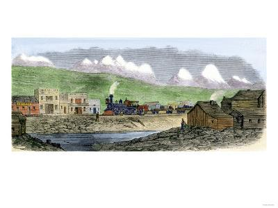 Union Pacific Railroad at Sherman Station, Wyoming Territory, 1869--Giclee Print
