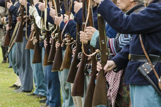 Union Soldiers at the Thunder on the Roanoke Civil War Reenactment in Plymouth, North Carolina-Michael DeFreitas-Photographic Print
