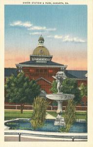 Union Station and Park, Augusta, Georgia