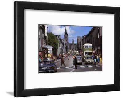 Union Street, built with Aberdeen Granite, Aberdeen Scotland, c1960s-CM Dixon-Framed Photographic Print