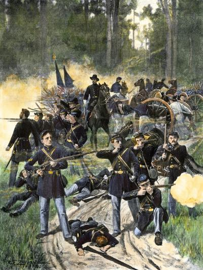 Union Troops Engaged at Gaines Mill, Virginia, June 27, 1862, American Civil War--Giclee Print