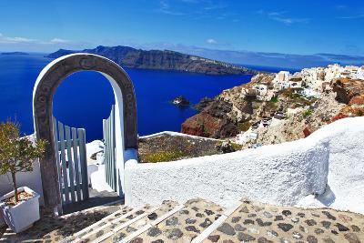 Unique Santorini Island-Maugli-l-Photographic Print