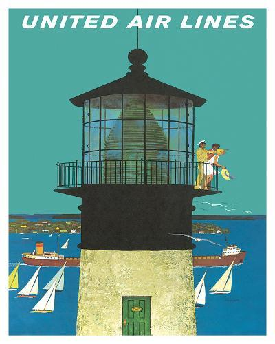 United Air Lines: Lighthouse, c.1960s-Stan Galli-Giclee Print
