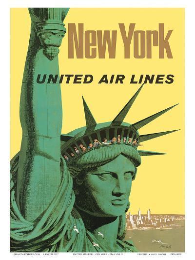 United Air Lines: New York, c.1950s-Stan Galli-Art Print