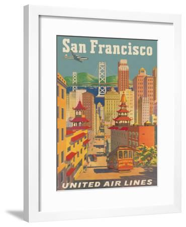 United Airlines San Francisco c.1950-Joseph Feher-Framed Giclee Print