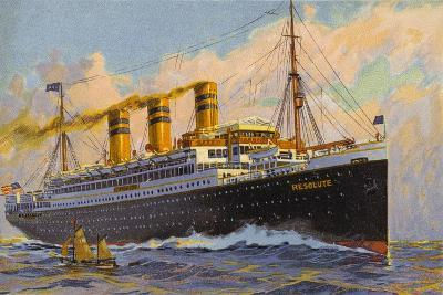 United American Lines Liner Ss Resolute--Giclee Print
