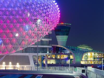 United Arab Emirates, Abu Dhabi, Yas Island, the Yas Hotel and Yas Marina Grand Prix Motor Racing C-Alan Copson-Photographic Print