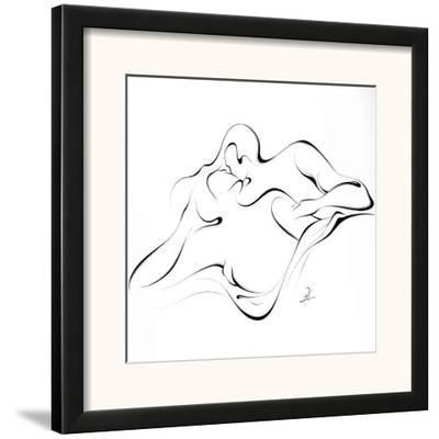 United Couple X-Alijan Alijanpour-Framed Art Print