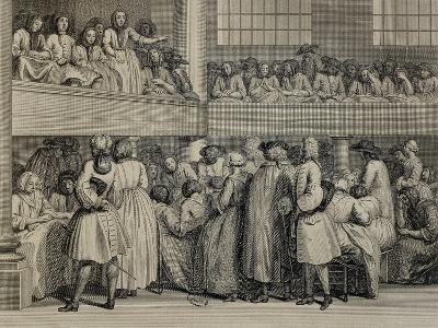 United Kingdom, England, a Quaker Assembly in London, 1735--Giclee Print