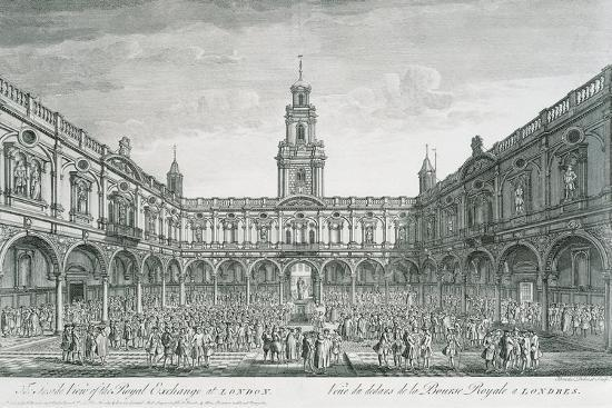 United Kingdom, England, London, View of the Stock Exchange Square--Giclee Print