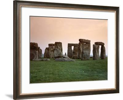 United Kingdom, England, Wiltshire County, Megalithic Monument of Stonehenge--Framed Giclee Print