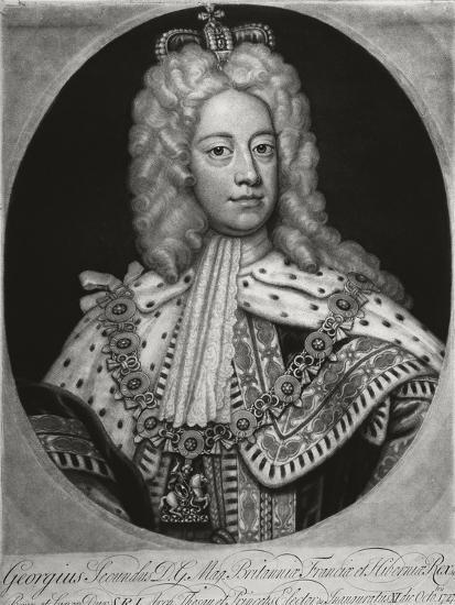 United Kingdom, Portrait of George II--Giclee Print