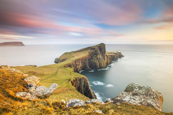United Kingdom, Uk, Scotland, Inner Hebrides, the Cliffs of Neist Point-Fortunato Gatto-Photographic Print