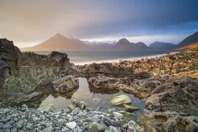 United Kingdom, Uk, Scotland, Inner Hebrides, the Cuillin Hills View from Elgol Beach-Fortunato Gatto-Photographic Print