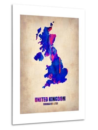 United Kingdom Watercolor Map-NaxArt-Metal Print