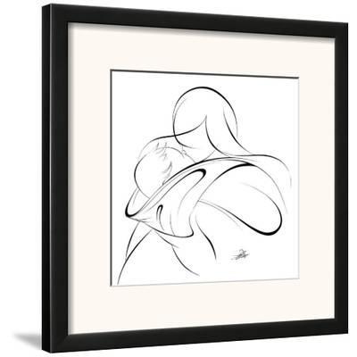 United Mother and Children II-Alijan Alijanpour-Framed Art Print