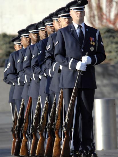 United States Air Force Honor Guard Members-Stocktrek Images-Photographic Print