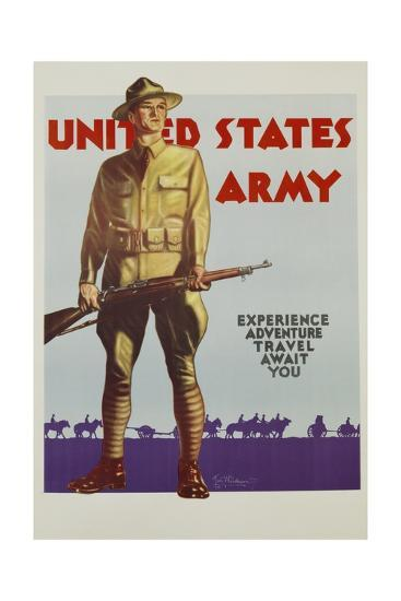 United States Army Poster-Tom Woodburn-Giclee Print