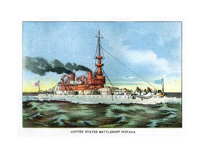 United States Battleship 'Indiana', C1890S--Giclee Print