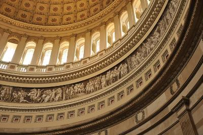 United States Capital Interior Dome in Washington, Dc-cafarmer-Photographic Print