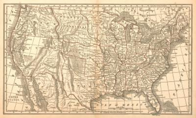United States Map, 1849