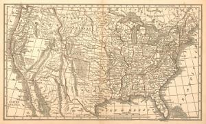 United States Map, 1849
