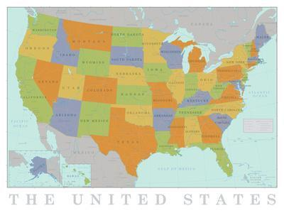 Maps of the United States artwork for sale Posters and Prints at