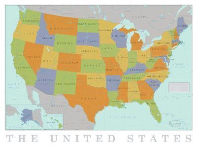 United States Map--Art Print