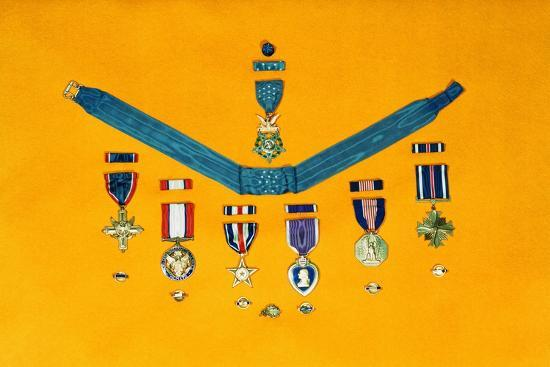United States Military Medals--Photographic Print