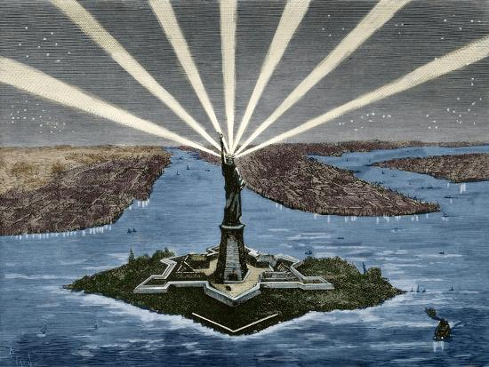 United States. New York. Statue of Liberty--Giclee Print