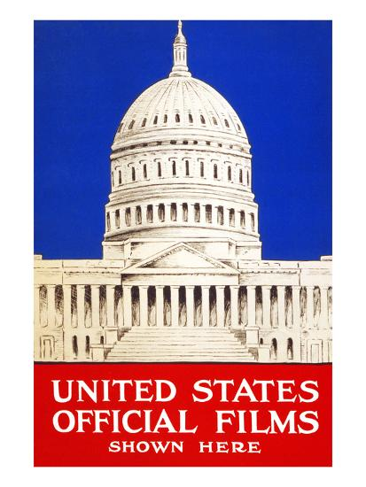 United States Official Films Shown Here- U.S. Gov't-Art Print