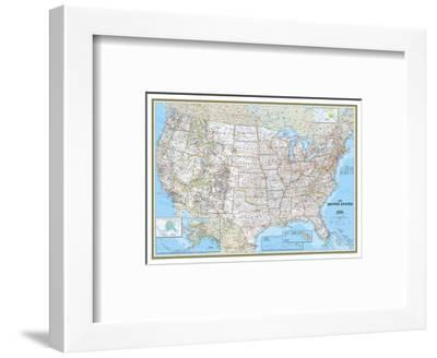United States Political Map-National Geographic Maps-Framed Art Print