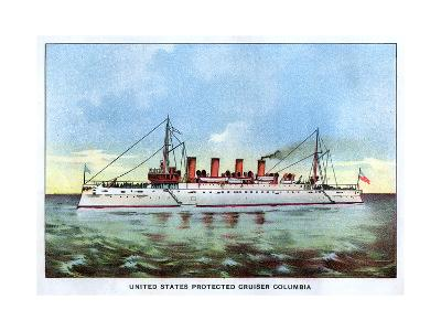 United States Protected Cruiser 'Columbia', C1890S--Giclee Print