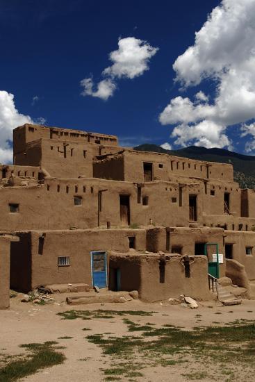 United States, Taos Pueblo, Adobe Buildings--Giclee Print
