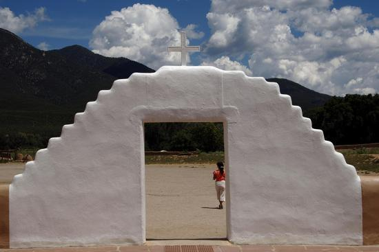 United States. Taos Pueblo. Arched Entrance to the St Jerome Chapel, 1850--Giclee Print