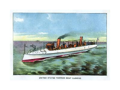 United States Torpedo Boat 'Cushing', 1890S--Giclee Print