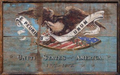United States USA Shield Vintage Wood Sign--Wood Sign