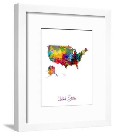 United States Watercolor Map-Michael Tompsett-Framed Photographic Print