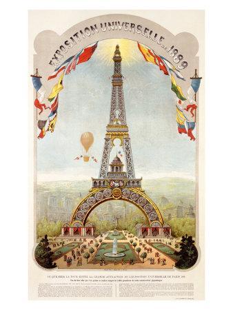 Universal Exposition Fair, Paris, c.1889--Giclee Print