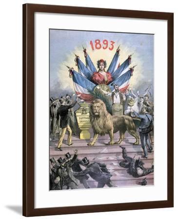 Universal Suffrage, 1893-Henri Meyer-Framed Giclee Print