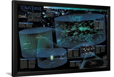 Universe Chart - ©Spaceshots--Framed Art Print