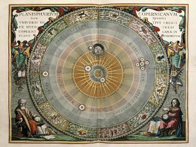 Universe on the Model of Copernicus with Sun in Center-Andreas Cellarius-Art Print