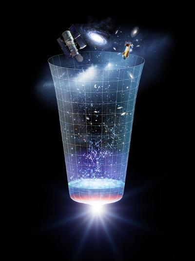 Universe Time Line, Artwork-Detlev Van Ravenswaay-Photographic Print