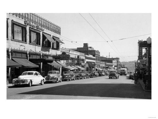 University Avenue in Seattle, Washington Photograph - Seattle, WA-Lantern Press-Art Print