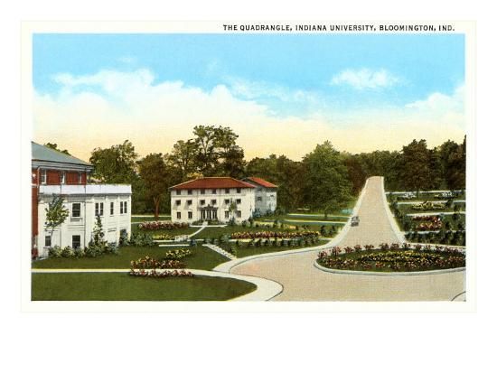University, Bloomington, Indiana--Art Print